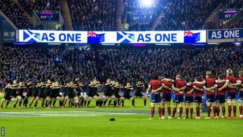 New Zealand against Scotland in 2014