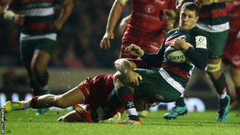 Jonah Holmes in action against Scarlets