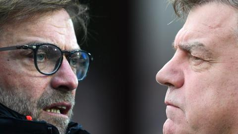 Jurgen Klopp and Sam Allardyce