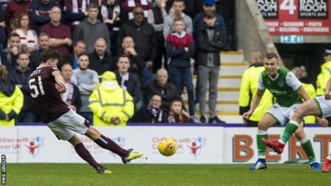 Aaron Hickey's late strike won the last Edinburgh derby in September at Easter Road