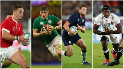 in_pictures George North, Jamie Heaslip, Finn Russell and Maro Itoje
