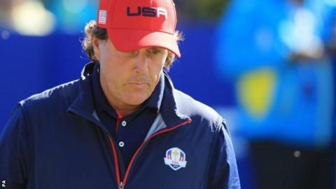 Phil Mickelson at the Ryder Cup