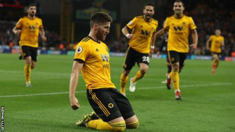 Wolves players celebrate