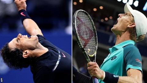 Rafael Nadal and Kevin Anderson