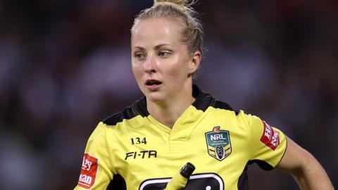 NRL official Belinda Sharpe