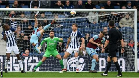 Ashley Barnes scores his fourth goal in four games to give Burnley the lead