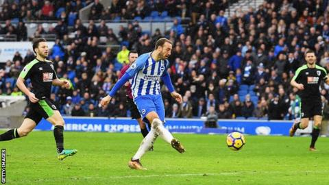 Murray, who joined Brighton from Bournemouth in 2016, scored his sixth goal of the season