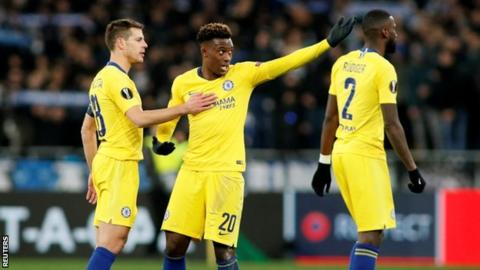 Callum Hudson-Odoi told Chelsea skipper Cesar Azpilicueta about the incident after the match