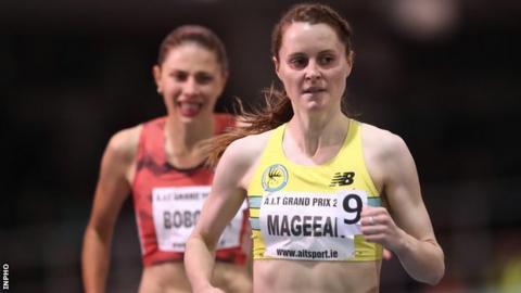 Ciara Mageean clocked a new Irish Indoor 1500m record of 4:06.76
