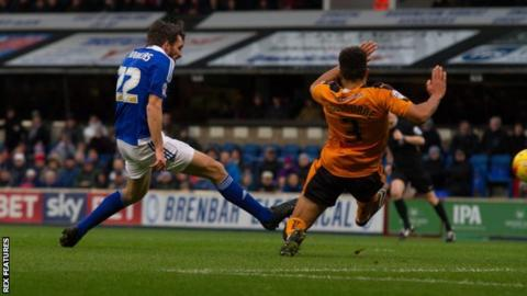 Having not previously scored all season, Ipswich's Jonathon Douglas has now netted in successive matches