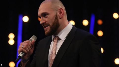 Tyson Fury at the BBC Sports Personality of the Year awards