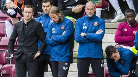 Ian Cathro watches as his side are knocked out of the League Cup