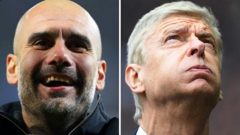 Pep Guardiola and Arsene Wenger