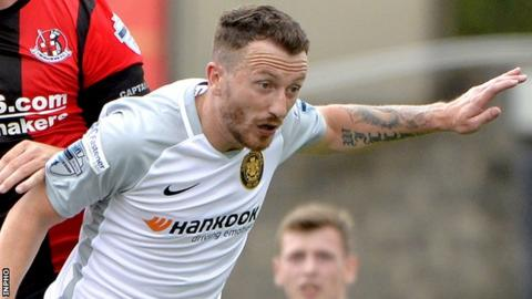Carrick midfielder Willie Faulkner is a major injury doubt for the trip to Glenavon