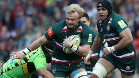 Luke Hamilton in action for Leicester Tigers