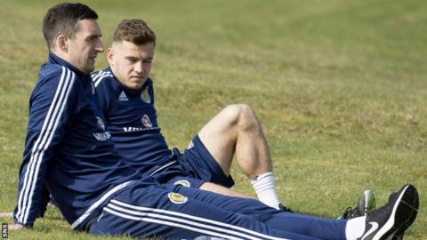 Lee Wallace and Ryan Fraser sit out Scotland training