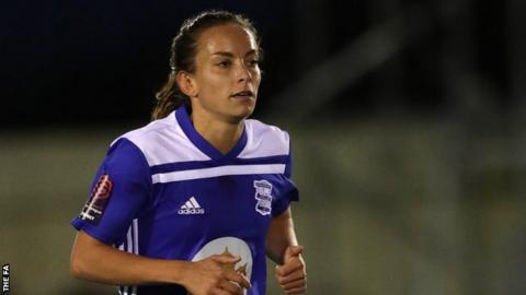 Lucy Staniforth in action for Birmingham City Women