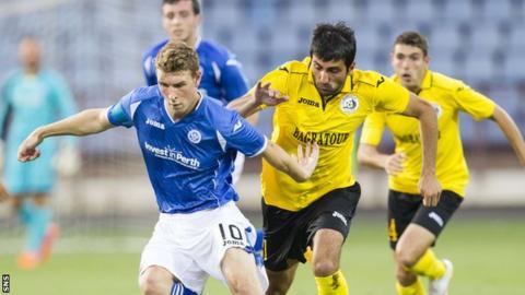 St Johnstone lost the first leg to Alashkert in Armenia 1-0