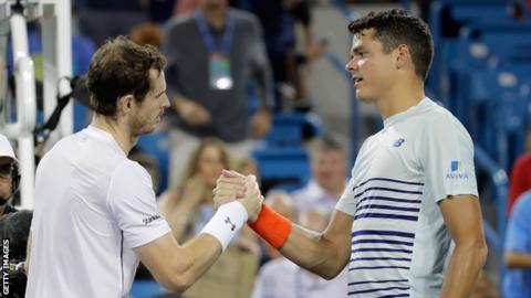 Andy Murray and Milos Raonic