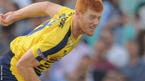 Hampshire seam bowler Ryan Stevenson