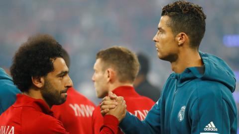 Mo Salah and Ronaldo