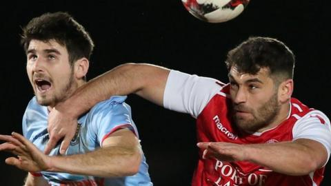 Larne beat Ballymena 2-1 in the quarter-finals