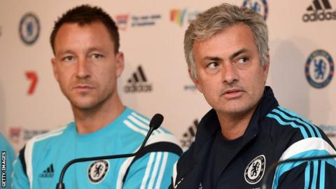 John Terry and Jose Mourinho