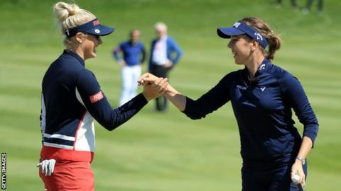 Charley Hull and Georgia Hall