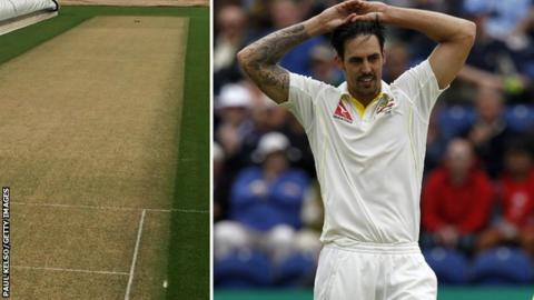 Cardiff pitch and Mitchell Johnson