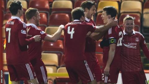 Aberdeen are second in the Premiership, chasing a third consecutive runners-up finish