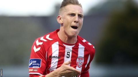 Ronan Curtis scored his third goal of the season for Derry City in Friday's league win over Galway United