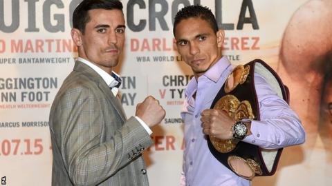 Anthony Crolla and Darleys Perez