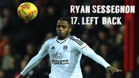 Fulham full-back Ryan Sessegnon