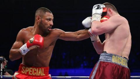 Kell Brook throwing a left arm jab