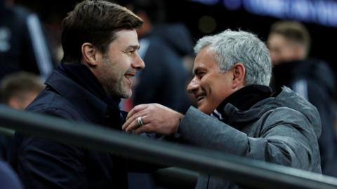 Jose Mourinho and Maurico Pochettino
