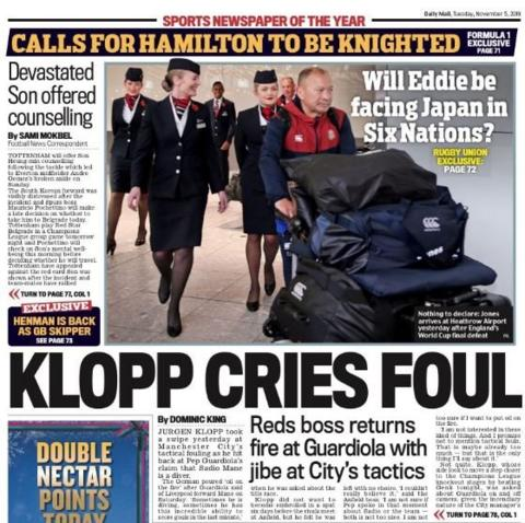 The back page of the Mail