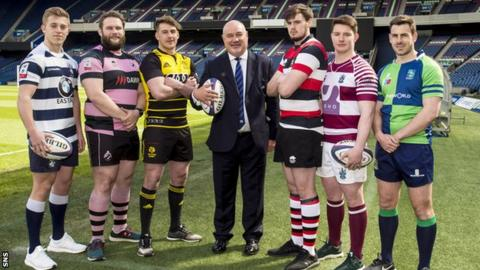 Super Six players and Scottish Rugby chief executive Mark Dodson