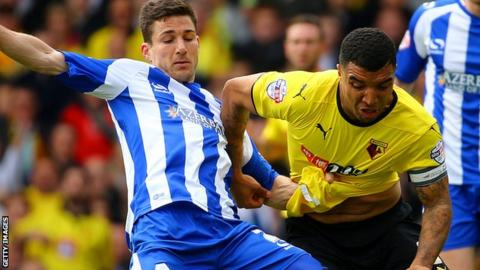Lewis Buxton in action against Watford