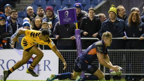 Duhan van der Merwe's try double helped Edinburgh to victory