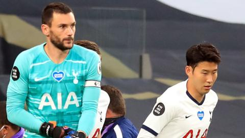 Hugo Lloris and Son Heung-min