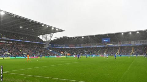 Cardiff City Stadium interior shot