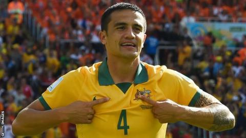 Ex-Everton player Tim Cahill signs for China's Hangzhou Greentown