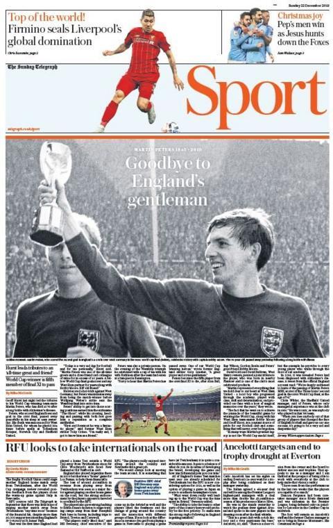 Telegraph sports page