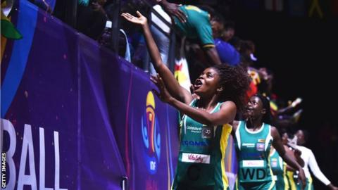 Zimbabwe's netballers celebrate with fans