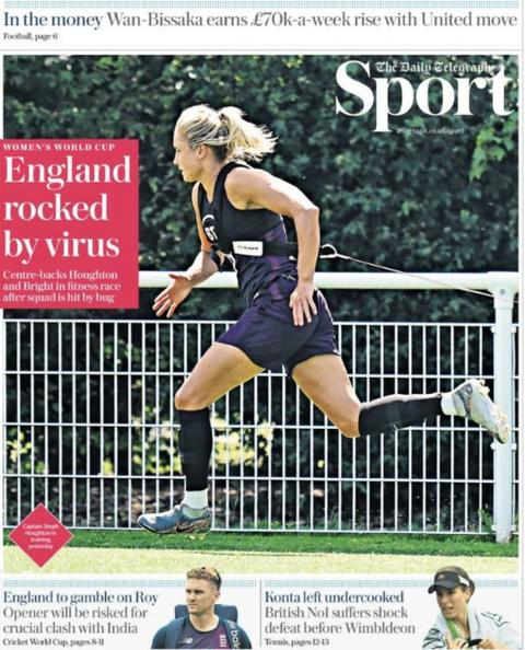 Thursday's Daily Telegraph