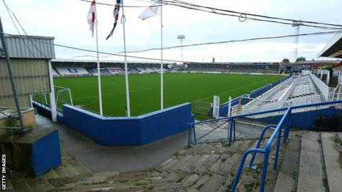 Hartlepool United's Victoria Park from the corner of the stand behind the goal
