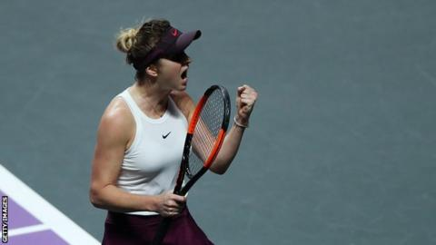 Simona Halep saves match point to overpower Bianca Andreescu — WTA Finals