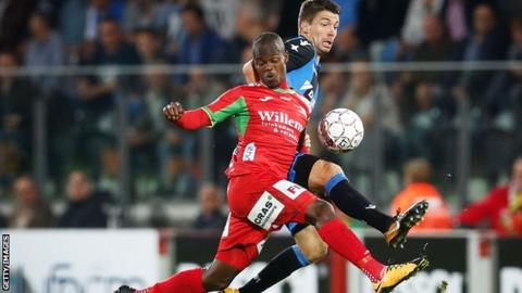 Zimbabwe's Knowledge Musona in action for KV Oostende