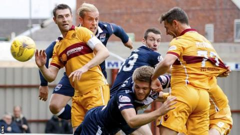 Scott McDonald heads in Motherwell's opening goal