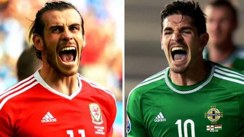 Gareth Bale and Kyle Lafferty